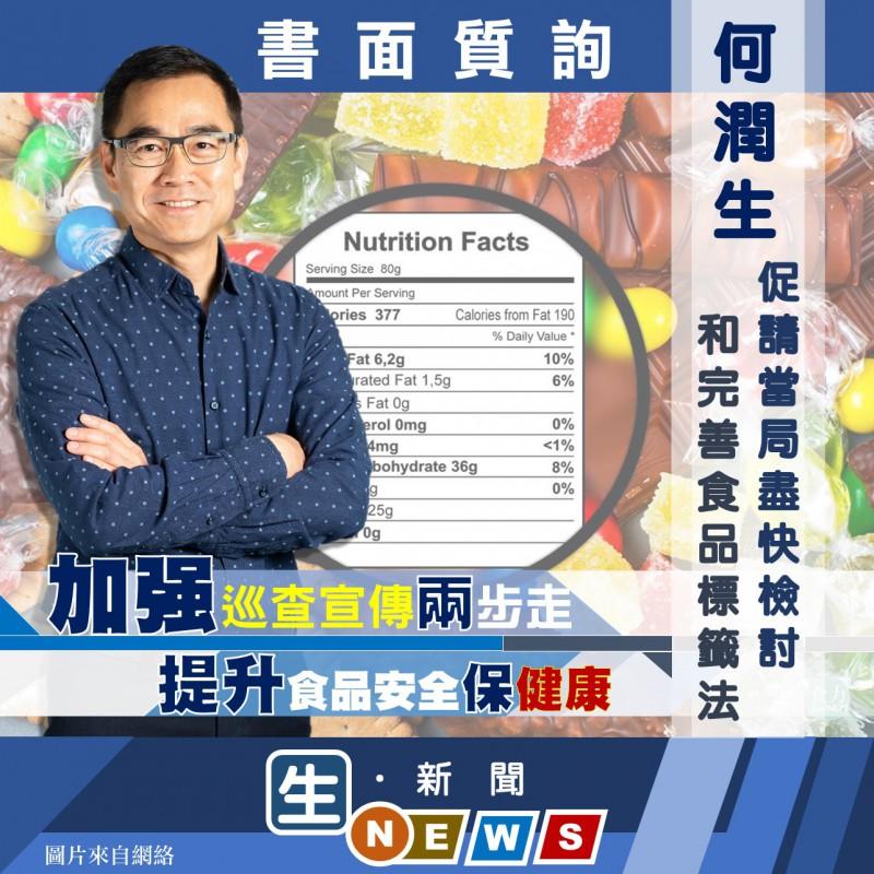 2019.09.03何潤生促請當局盡快檢討和完善食品標籤法