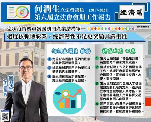 第六屆立法會會期工作報告經濟篇