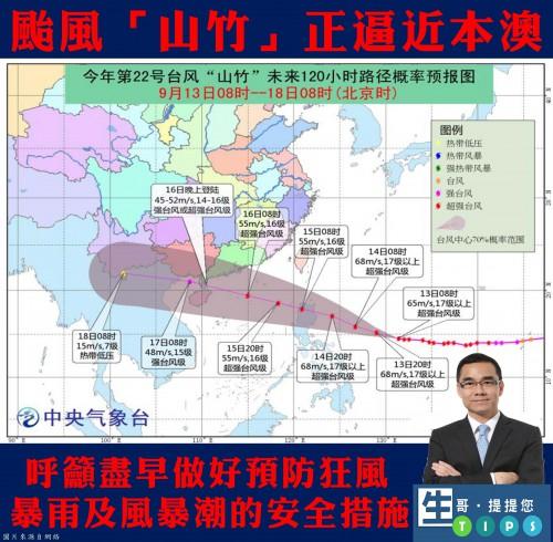 2018.09.13颱風「山竹」正逼近本澳